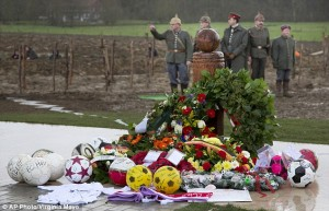 Inauguration of the Christmas Truce memorial at Ploegsteert.